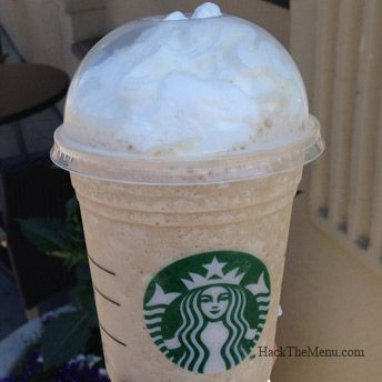 "The Bucks hack - Starbucks Cafe Vanilla Frappuccino - Ask for the ""Cafe Vanilla"" Frappuccino from the secret menu or ask your barista to add Coffee Syrup to your Vanilla Bean Creme Frappuccino."