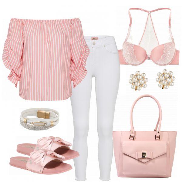 PinkWhite Damen Outfit – Komplettes Frühlings-Outfit günstig kaufen | FrauenOutfits.de – Blacky