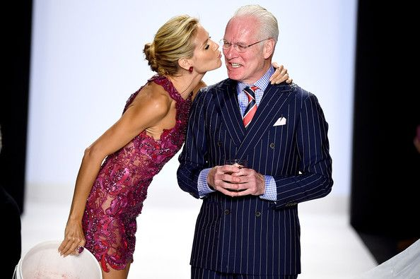 Heidi Klum Photos Photos - Heidi Klum (L) and Tim Gunn walk the runway at the Project Runway fashion show during Mercedes-Benz Fashion Week Spring 2015 at The Theatre at Lincoln Center on September 5, 2014 in New York City. - Project Runway - Runway - Mercedes-Benz Fashion Week Spring 2015