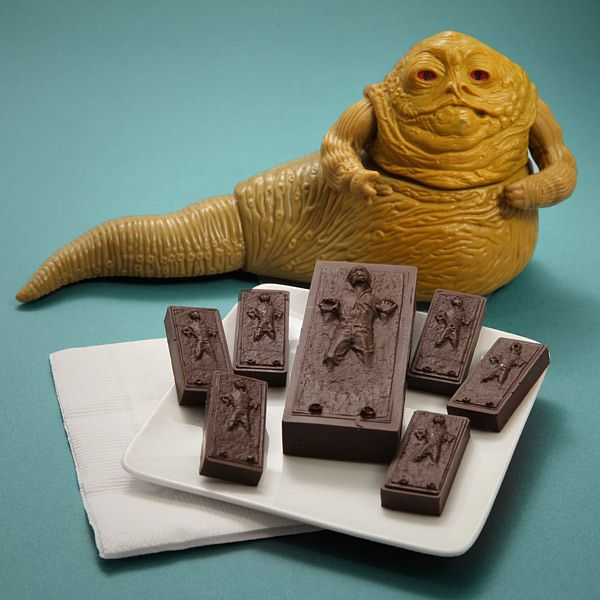 Frozen Han Solo ice cube mold. Works with chocolate too *love* *super silly me*