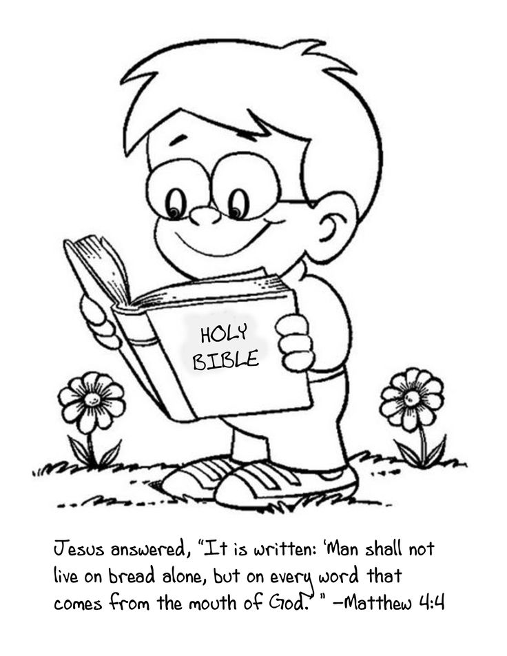 cute coloring page for the kids to color as we talk about reading the bible - A Child God Coloring Page