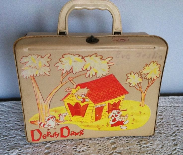 Vintage 1961 DEPUTY DAWG Vinyl Lunchbox SHERIFF JAIL HOUSE Country Man Cave
