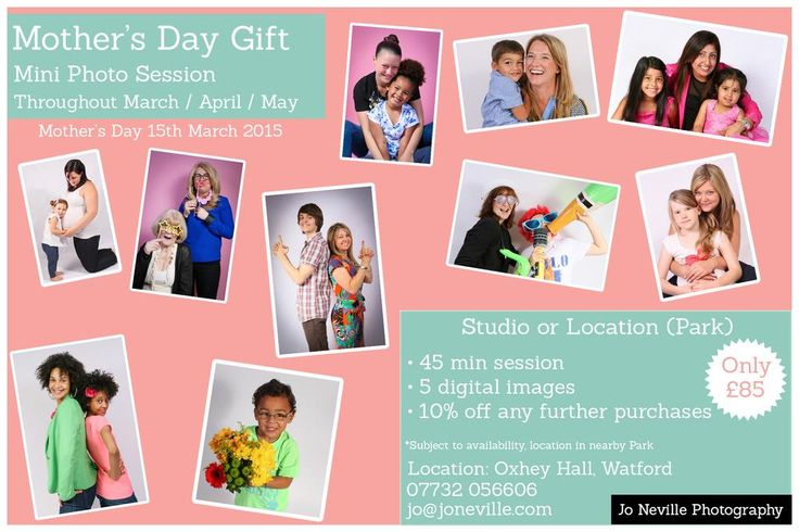 Mother's Day Gift Idea - Mini Photoshoot - Watford Hertfordshire