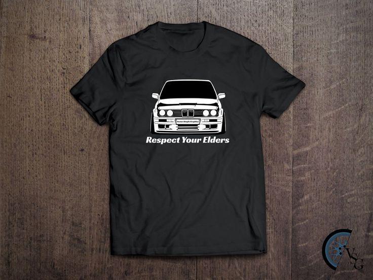 White BMW E30 T-Shirt