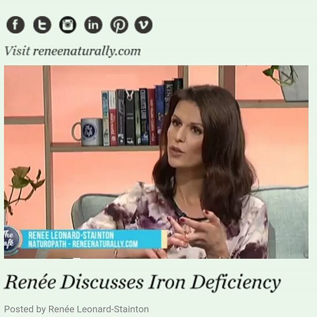 V I D E O // Over on the blog, I've posted the interview I did with @melaniehomer on @thecafenz about iron deficiency. We discussed signs & symptoms (feeling tired all the time, frequently sick, irritable beyond your norm, lack of concentration...) & I made some suggestions for diagnosis + treatment. Check out the video link in my profile if you think you or someone you know may have or be at risk of an iron deficiency! Top by talented NZ designer @juliettehogan 💜