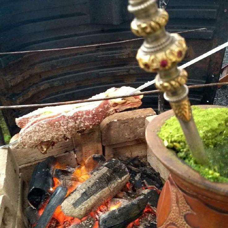 Pra quem gosta de chimarrão com churrasco bem simples mas muito bom