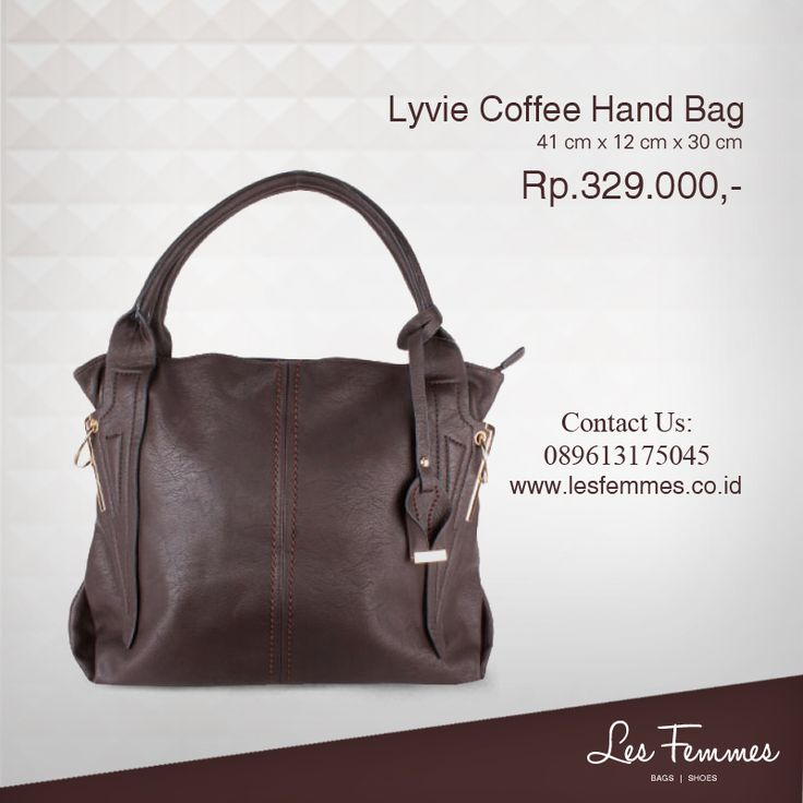 Lyvie Coffee Hand Bag 329,000 IDR #Fashion #Woman #bag shop now on http://www.lesfemmes.co.id/hand-bags/lyvie-coffee-hand-bag