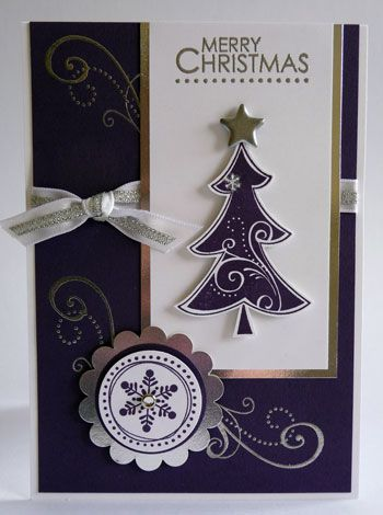 2537 best christmas cards images on pinterest holiday cards stampin up handmade christmas card silver white m4hsunfo