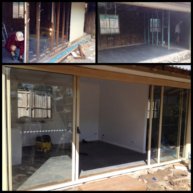 New aluminium sliding entry door and renovations to cottage.