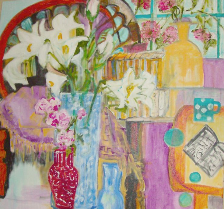 Best in Show Cambridge Art Centre 2012 Lolies and polka dots acrylic