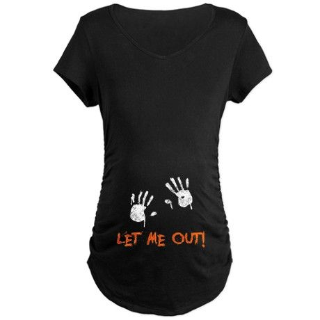 """Maternity shirt for Halloween. LOVE!! Just add on another set of hands and change """"me"""" to """"us"""""""