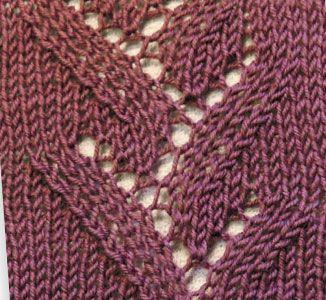 Eyelet Twigs Knitting Stitch - Knitting Kingdom