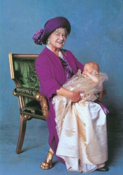 Queen mother & prince harry