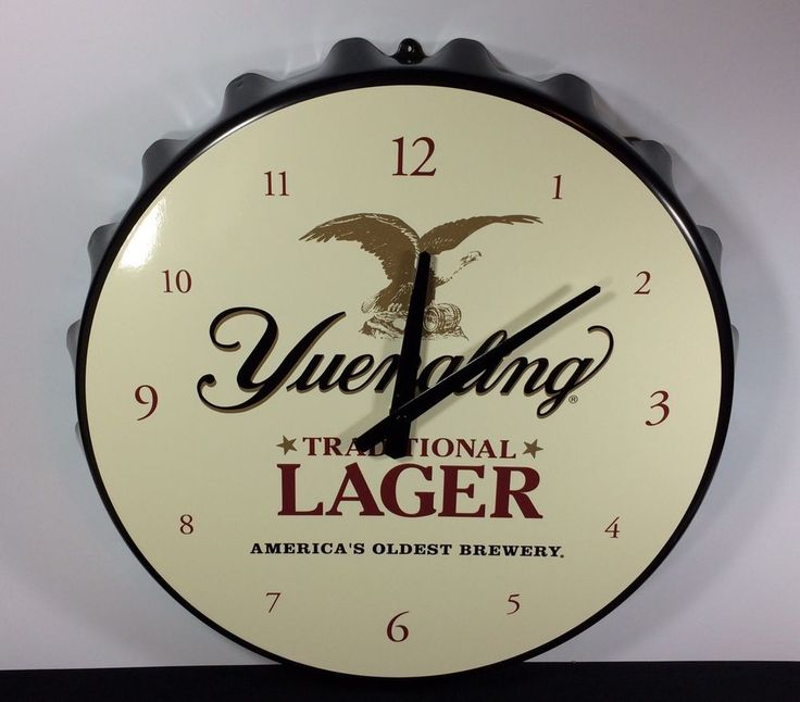 #Yuengling #Lager #Beer #Sign #Clock #Bottlecap #beersigns #cjbeez #bar #pub #tavern #mancave