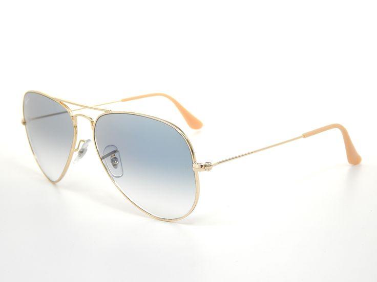 Ray Ban Aviator RB3025 001/3F Gold/Light Blue Gradient 58mm Sunglasses \u0026middot; 62Mm SunglassesSunglasses MauiBest Women ...