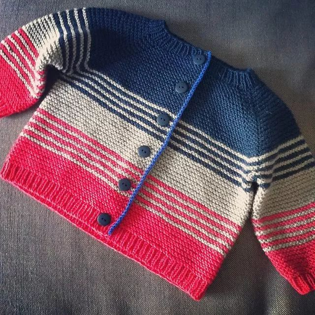 Good use of stripes for left over wool.