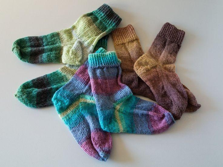 Strikkede sokker | strømper størrelsesskema