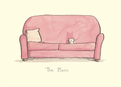 THE BOSS  a Two Bad Mice card by Anita Jeram
