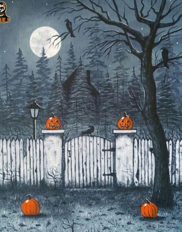 vintage halloween halloweenshit art by alan dellascio - Halloween 2016 Decorations