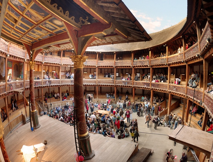 The Globe Theatre, London - I WILL see a live Shakespeare play performed here one day!