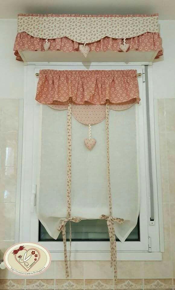 su Tende della finestra del bagno su Pinterest  Tende mezze finestra ...