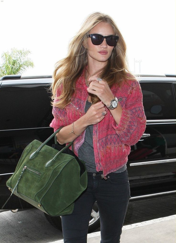 RosieModels Off Duty, Rosie Huntington Whiteley, Fashion, Celine Bags, Street Style, Style Icons, Bomber Jackets, Rosie Huntingtonwhiteley, Rosiehuntingtonwhiteley
