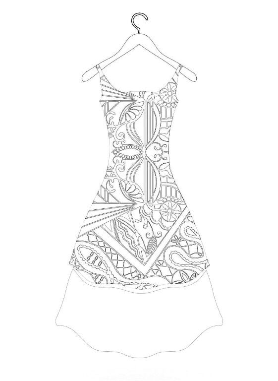 118 best Coloring Pages Clothing images on Pinterest Coloring