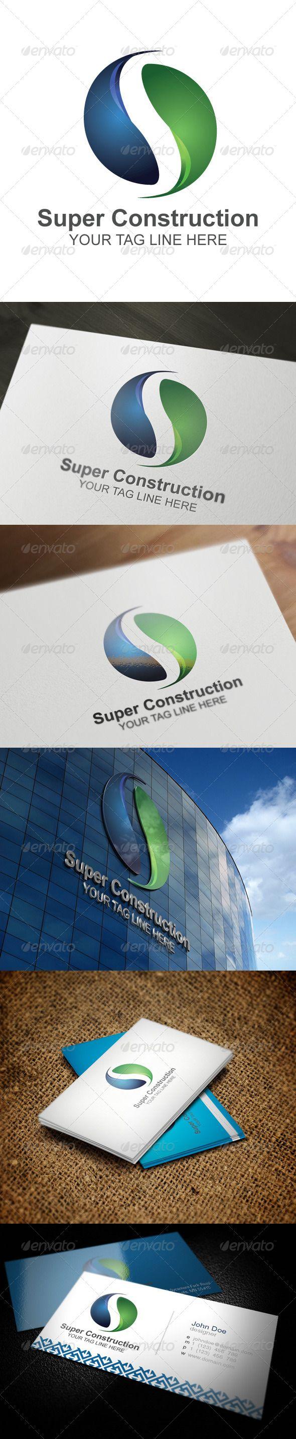 Super Construction Logo Design Template Vector #logotype Download it here:  http://graphicriver.net/item/super-construction/5540408?s_rank=1068?ref=nexion