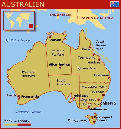 Australien kort