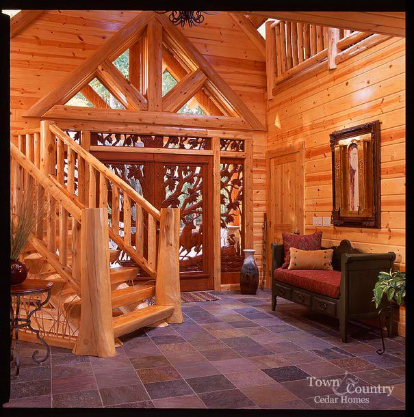 Log Home Foyer : Love the floor dream home pinterest foyers luxury