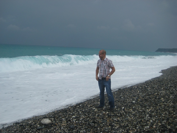 On Marble Beach. It was to cold to go swimming here that day. Photo by CD