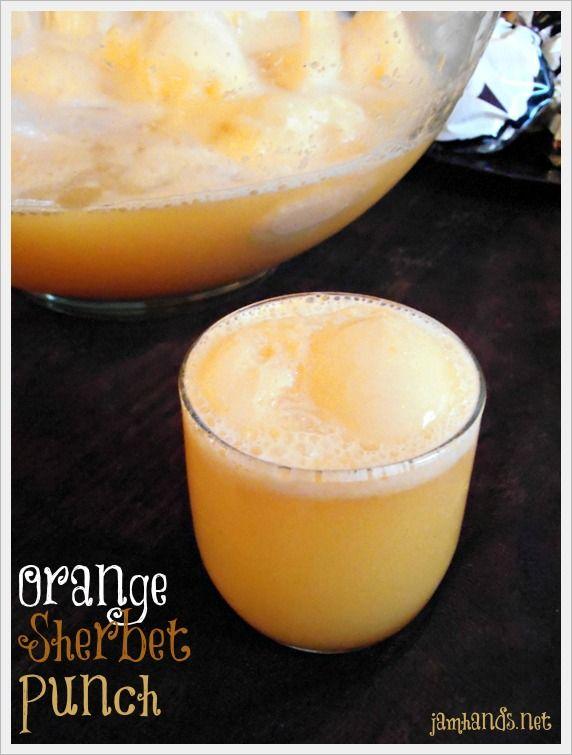 Orange Dream Sherbet Punch - orange sherbet, frozen orange juice concentrate, ginger ale