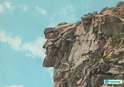 New Hampshire's Old Man of the Mountain, which fell in May, 2003.
