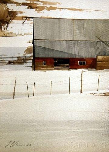"2007, Hillside by Joseph Alleman Watercolor ~ 14"" x 10"""