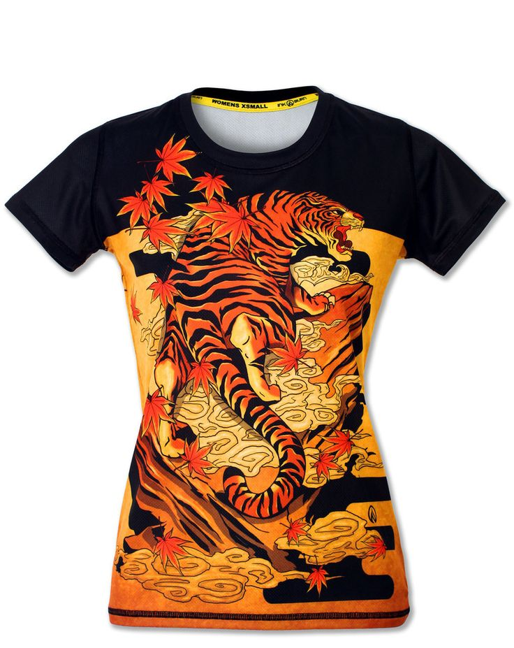 Women's Tiger Athletic Shirt for Running, Gym & Crossfit
