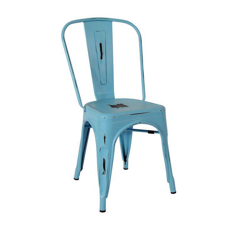 Antique Tolix chair in blue Suitable for indoor only Matte finish