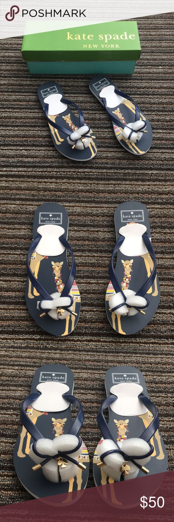NEW Kate Spade Camel Print Flip Flops Size 7 New In Box. Kate Spade New York Flip Flops. kate spade Shoes