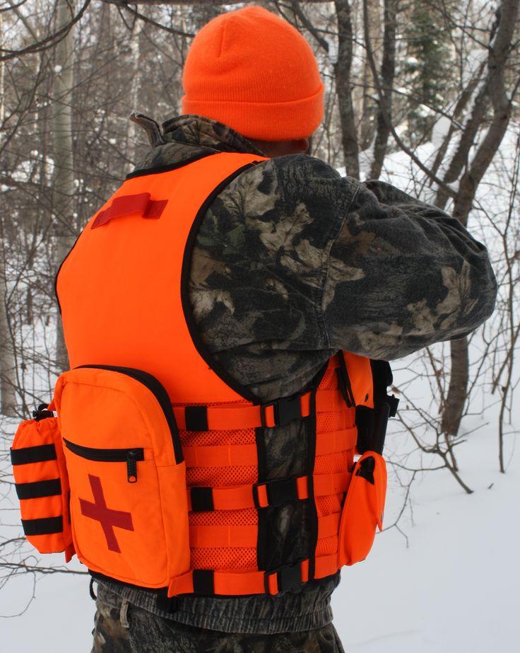 Blaze Orange MOLLE Vest