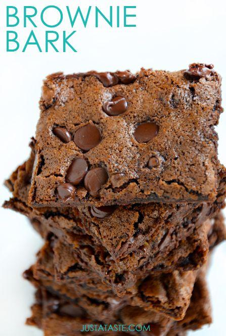 Chewy Chocolate Brownie Bark #recipe