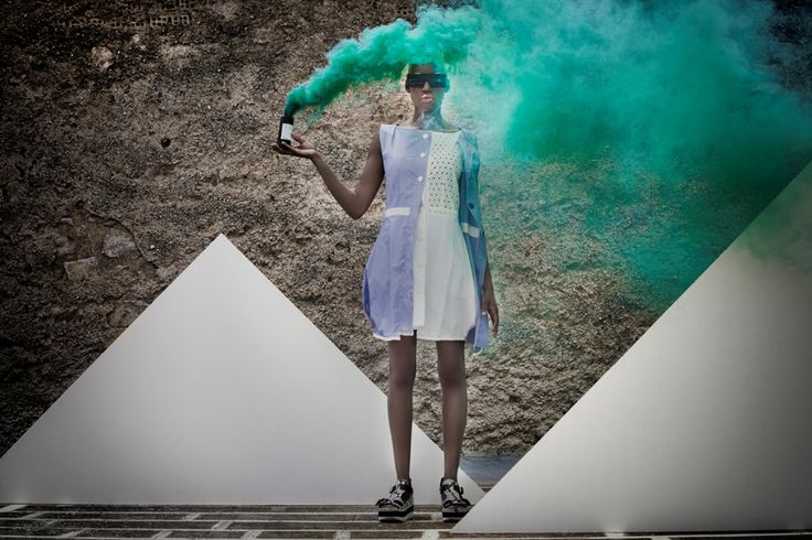 """Are you a smoke bomber too?"". New collection by Mirella Manta.  Credits Photography: Eleni Onasoglou  Styling: Nikos Zanas  Make up: George Keramidas  Model: Elena Kazablanka  See the whole collection http://www.b38.gr/collections/are-you-a-smoke-bomber-too/ ‪ #‎newcollection‬ ‪#‎smokebomber‬ ‪#‎B38‬ ‪#‎fashion‬ ‪#‎welovefashion‬ ‪#‎fashionlovers‬"