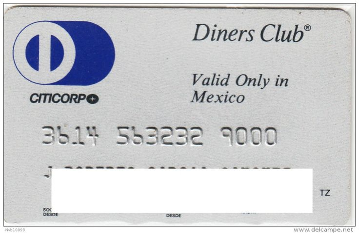 Diners Club valid only in Mexico