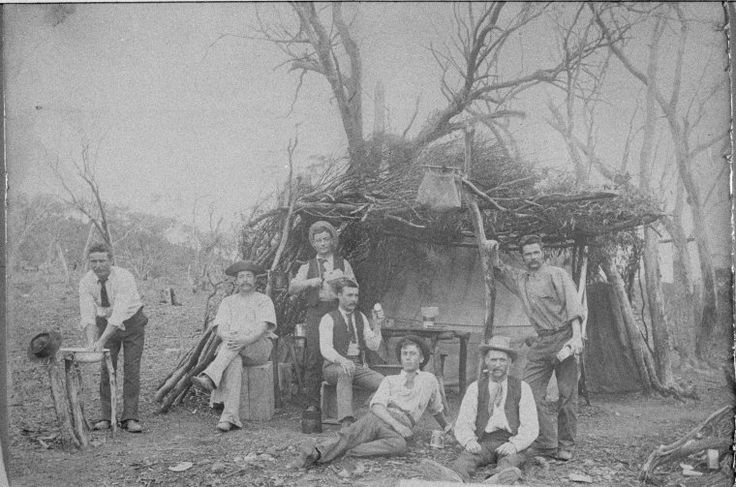 024518PD: Miners' camp on the Goldfields, 1890s…