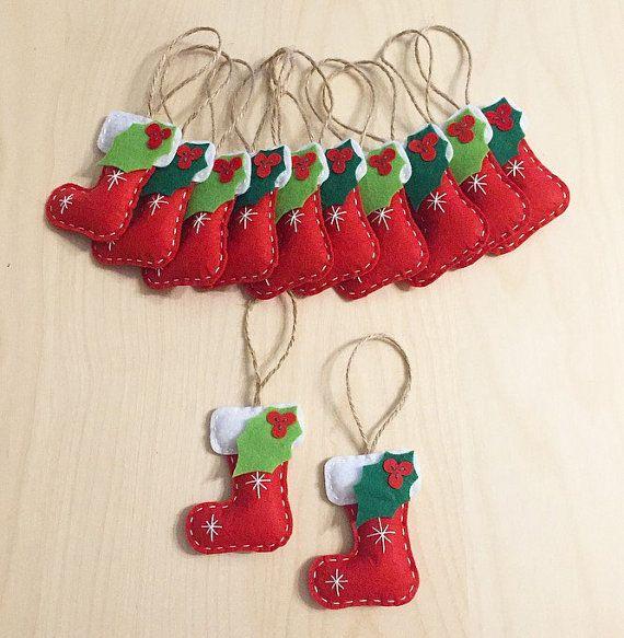 navidad conjunto de adornos regalos hechos a mano adornos