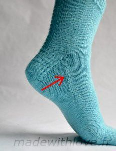 Les chaussettes de la schtroumpfette : le patron « Made with Love