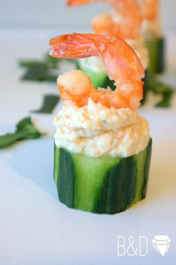 Cucumber cups filled with spicy crab | Seafood | Pinterest ...
