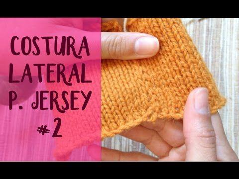 Unir tejidos: costura lateral en punto jersey #2 (dos agujas) - YouTube