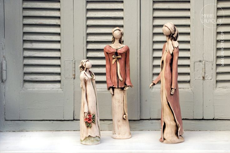 Handmade ceramic sculptures made by Maria Lalaouni * http://www.lalaouni.com