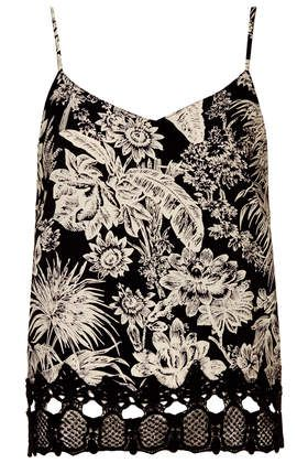 Tall Mono Floral Crochet Cami - New In This Week - New In