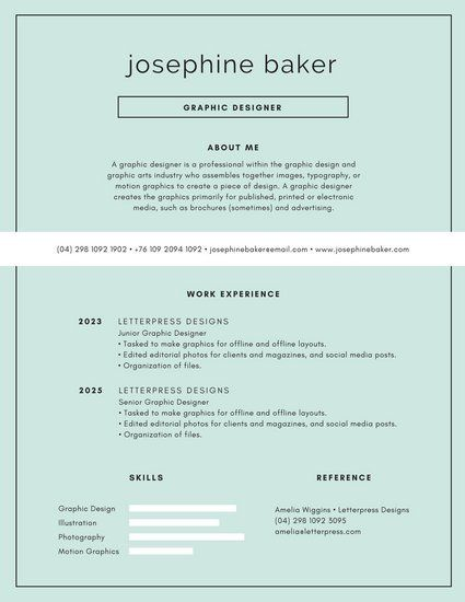121 best CV images on Pinterest Charts, Design web and Editorial - motion graphics resume