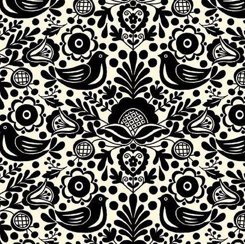 Baby Crib Sheet - Black Baby Bedding / Scandinavian Birds / Modern Baby Bedding / Fitted Baby Sheet on Etsy on Etsy, $50.00